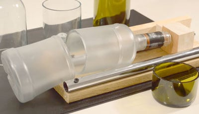 how to use a glass bottle cutter
